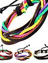 gainé de cuir bracelet pour hommes multicolore vintage (1 pc)