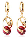 plaqué mode romantique conception 18k l'or des femmes boucles d'oreilles de zircon