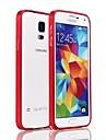 Pour Samsung Galaxy Coque Antichoc Coque Antichoc Coque Couleur Pleine Aluminium Samsung S5