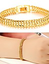 Feminino Pulseiras Algema Chapeado Dourado 18K ouro Original Moda Jóias Dourado Jóias 1peça
