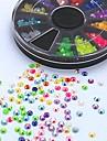 500pcs mix de cores doces ab strass acrílico arte roda decoração de unhas