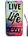 viver a vida que você ama estojo rígido padrão&caneta de toque para iPhone 4 / 4S