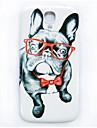 очки собака рисунок тонкий чехол жесткий футляр для Samsung Galaxy s4 i9500