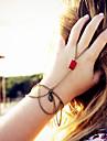 shixin® clássico resina pulseira borla forma de anel vermelho (1 pc)
