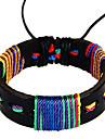 moda étnica couro amizade pulseira masculina (1 pc)