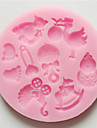 выпечке Mold Мультфильм образный Для торта Для Cookie Для Pie силиконовый Экологичность Высокое качество Антипригарное покрытие