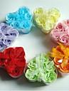 6 Romantic Heart-shaped Rose Soap Flowers(Random Color)