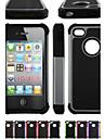 dois-em-um grão de futebol pc projeto e capa de silicone para iphone 4 / 4s (cores sortidas)