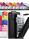 Up Fold PU Leather Case for iPhone 4/4S (Assorted Colors)