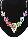 eourpean стиль смола цветок заявление ожерелье