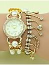 여성의 패션 크리스탈 진주 체인 팔찌 시계 (모듬 색상)