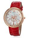 Женские Модные часы Повседневные часы Японский кварц Имитация Алмазный Кварцевый PU Группа Блестящие ЦветыЧерный Белый Синий Красный