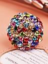 Europe America Luxury Rhinestone Women Adjustable Rings Jewelry