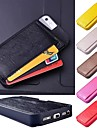 Back Card Holder PU Leather Case for iPhone 5/5S (Assorted Colors)
