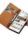 stand design estojo de couro genuíno para Huawei Ascend p6 estilo carteira