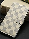 Plaid Pattern Leather Wallet Flip Case Cover with Stand for Samsung Galaxy S5 i9600