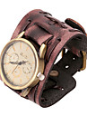 Fashion Watch 20cm Men's Brown Leather Leather Bracelet(Brown)(1 Pc)