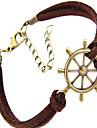 винтажный руль форма кожа мужской браслет (1 шт)