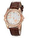 Mulheres Relógio de Moda Relógio de Pulso Relógio Casual Japanês Quartzo imitação de diamante PU Banda FlorPreta Branco Azul Vermelho