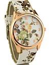 Women's Fashion Floral Designs Round Dial Quartz Wrist Watch