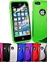 S-форма крышки мягкой ТПУ случае для iphone 5/5 с (разные цвета)