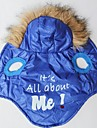 It's All About ME Pattern Cotton-Padded Hoodies Vest for Pets Dogs (Blue Assorted Sizes)