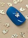 200pcs à double papillon creux en métal doré décoration art tranche de l'ongle