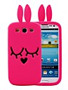 3D Cartoon Rabbit Pattern Silicon Rubber Case for Samsung Galaxy S3 I9300