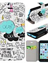 The Fault In Our Stars Pattern Clamshell PU Leather Full Body Case with Card Slot for iPhone 5C