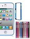 armature en métal pare-chocs pour iPhone 4 / 4s (couleurs assorties)