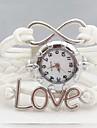 женская мода любовное письмо бесконечность кожа ткань группа Кварцевые аналоговые часы браслет (разных цветов)