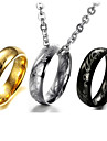 Men's Women's Pendant Necklaces Titanium Steel Religious Fashion Vintage Black Silver Golden Jewelry Wedding Party Daily Casual 1pc