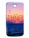 삼성 갤럭시 S4 i9500를위한 여름 해변 패턴 얇은 하드 케이스 커버