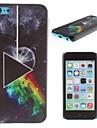 핑크 플로이드 - 아이폰 5C의 달 패턴 PC의 하드 케이스의 어두운면