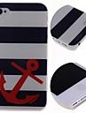 мультфильм полосы якоря шаблон жесткий футляр для iPhone 4 / 4s