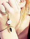 shixin® мода форма листа белого резиновое кольцо браслет (1 шт)