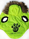 Cat / Dog Hoodie Green Dog Clothes Winter Cartoon