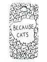 Cartoon Cat Pattern Thin Hard Case Cover for Samsung Galaxy S4 Mini I9190