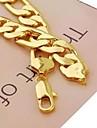 남성용 체인 목걸이 도금 골드 합금 의상 보석 보석류 제품 일상 스포츠 크리스마스 선물