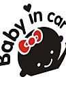 """""""Bebê no carro"""" adoráveis meninas do bebê Adesivo Para Carro"""