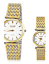 Men's Women's Dress Watch Fashion Watch Wrist watch Quartz Stainless Steel Band Gold