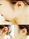 shixin® 클래식 진주 합금 클립 귀걸이 (1 쌍) 임의의 크기