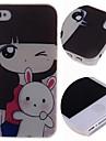 caso difícil padrão de coelho menina dos desenhos animados para iPhone 4 / 4S
