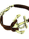 классический якорь форма кожа мужской браслет (1 шт)