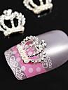 10pcs coroa de pérolas 3d strass liga de nail art decoração