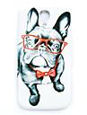 очки шаблон собака тонкое покрытие жесткий футляр для Samsung Galaxy s4 мини i9190
