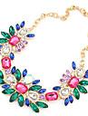 European Style Flower Statement Necklace