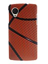 motif de basket-ball mince boîtier en plastique dur pour Google Nexus 5