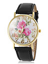 Women's Beautiful Flower Pattern Dial PU Band Quartz Wrist Watch(Assorted Colors) Cool Watches Unique Watches