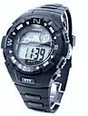남성 스포츠 시계 디지털 시계 디지털 실리콘 밴드 블랙